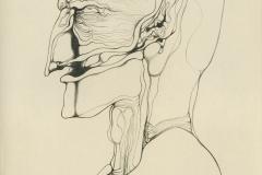 Z.Beksiński - wystawa czasowa 2019 - rys 03 kredka 1965