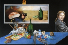 Iwo Birkenmajer,  Entropia, 60 x 80 cm, olej, metal, 2015