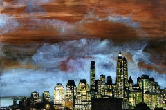 Manhattan rhapsody I, 100 x 100 cm, olej, 2006