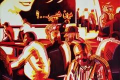 1. Miasto, 2003, olej, płótno, 80x80 cm