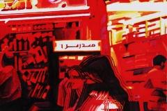 3. Miasto, 2003, olej, płótno, 80x80 cm