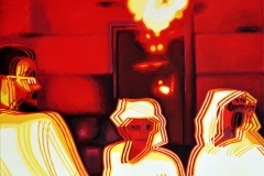 6. Miasto, 2003, olej, płótno, 80x80 cm