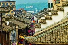 Dachy w Linhai (Zhejiang 2015) poodpisane