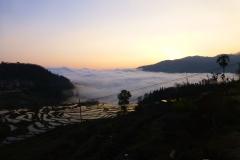 Morze chmur w drodze do Shengcun (Yunnan 2014) podpisane