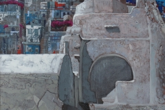 Andrzej Borowski Mykonos 30X40cm akryl na płótnie