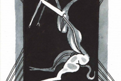 ŻAGLOWIEC-Z-JEDNOROŻCEM-5-rysunek-atramentem-na-papierze-15-x-107-cm-2019