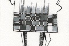 JEDNOROŻEC-W-KUBRACZKU-rysunek-atramentem-na-papierze-13-x-9-cm-2019