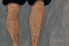 Chlebek Monika, cykl ZŁE SNY, akryl na płótnie, 30 x 24 cm, 2009