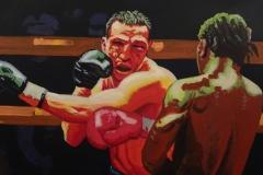 1 - Tomasz Tabisz - Walka, akryl na płótnie, 2014small