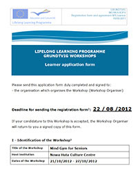 grundtvig application form