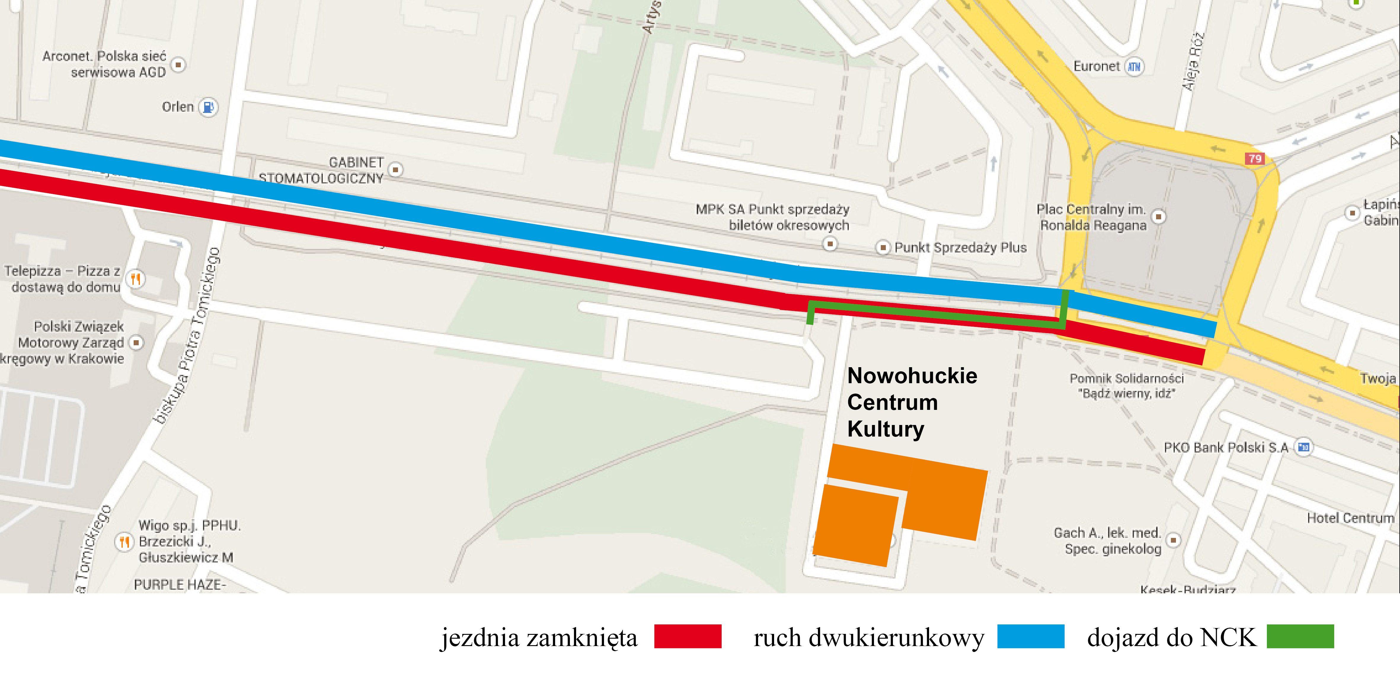 Dojazd Do Nck W Dniu 4 Lipca Nowohuckie Centrum Kultury Krakow