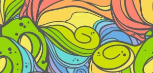 Wave seamless pattern. Hand drawn vector background